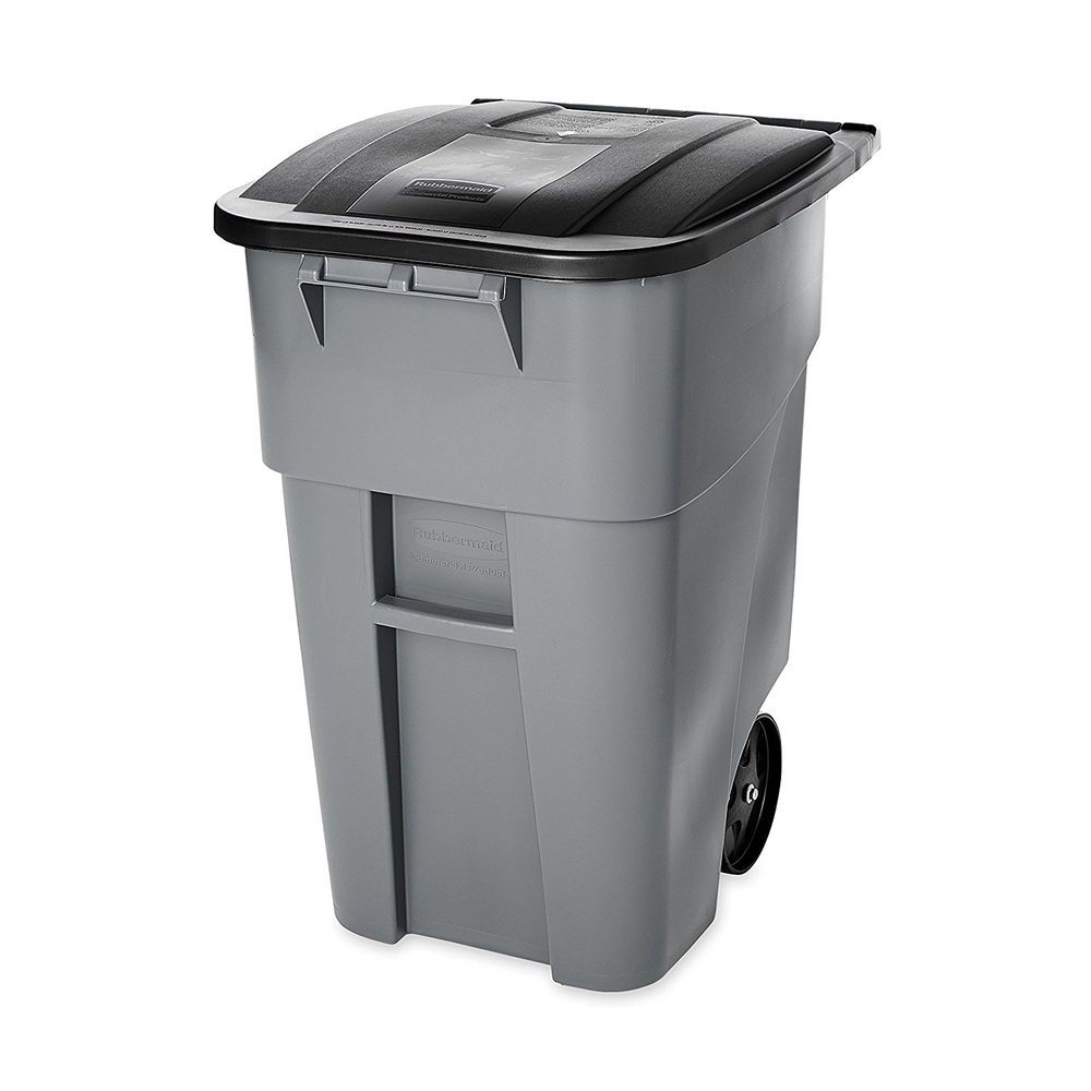 Outdoor Trash Can With Wheels Outdoor Trash Can 50 Gallon Wheeled Recycling Bin Waste Lid Garbage