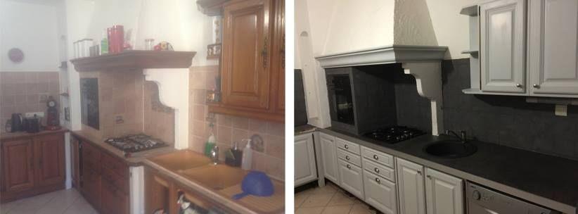 Avant / Après relooking d\u0027une ancienne cuisine au style provençal