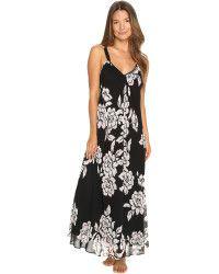 Oscar de la Renta | Printed Silky Georgette Long Gown |  Lyst