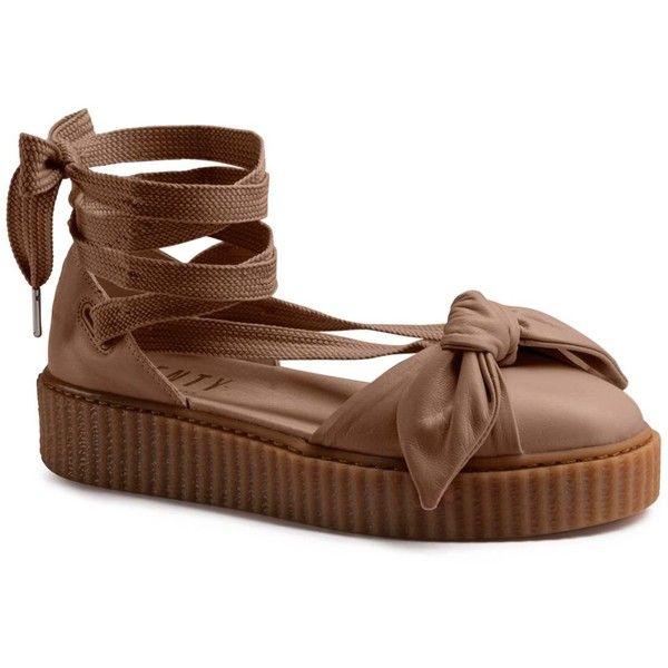 3d7da3e9fc4 Fenty Puma x Rihanna Bow Creeper Sandals ( 180) ❤ liked on Polyvore  featuring shoes