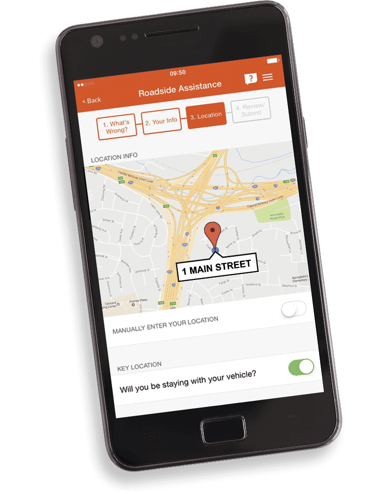 Mobile App Car Cost Roadside Assistance Roadside Service