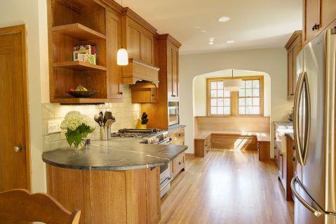 Natural Light Filled Tudor Kitchen Remodel Arts Crafts Kitchen - Tudor kitchen remodel