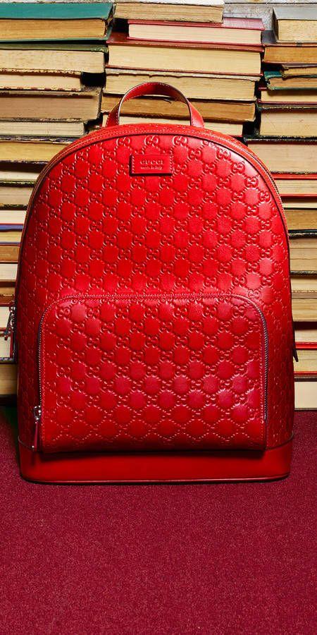 Gucci Men - Gucci Signature leather backpack  464e321875bd1