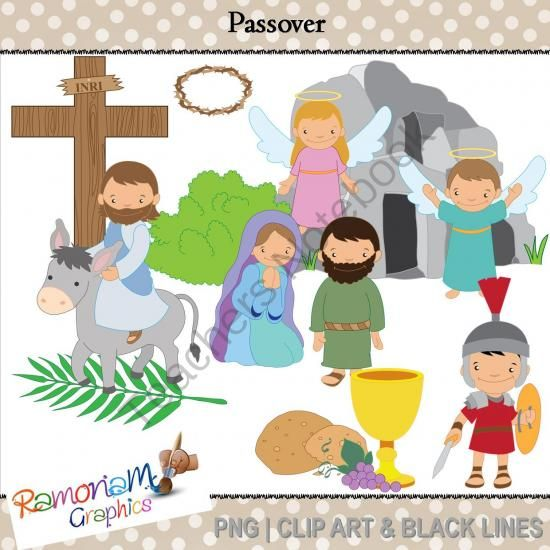 Passover - Easter, Religious clip art from RamonaMClipArt on ...