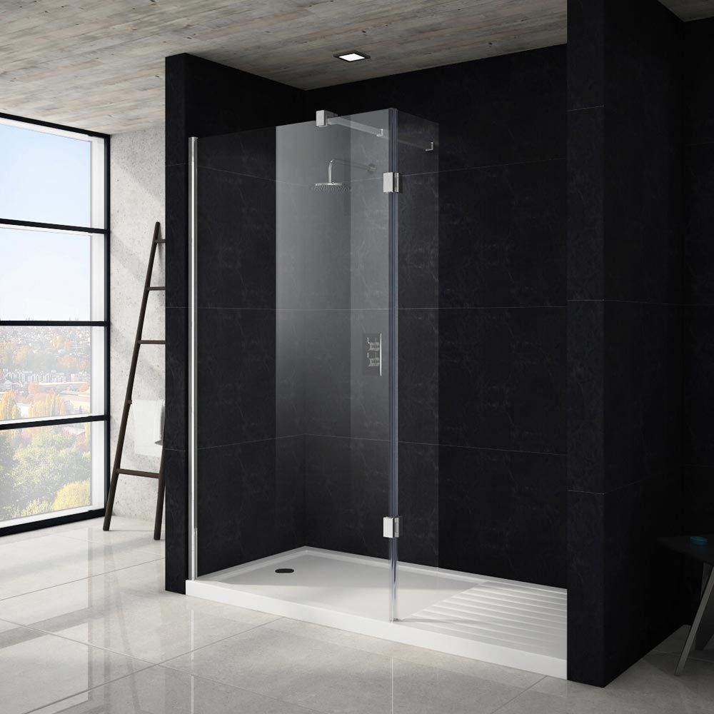 Apollo walk in shower tray with drying area 1700 x 800mm for Walk in shower