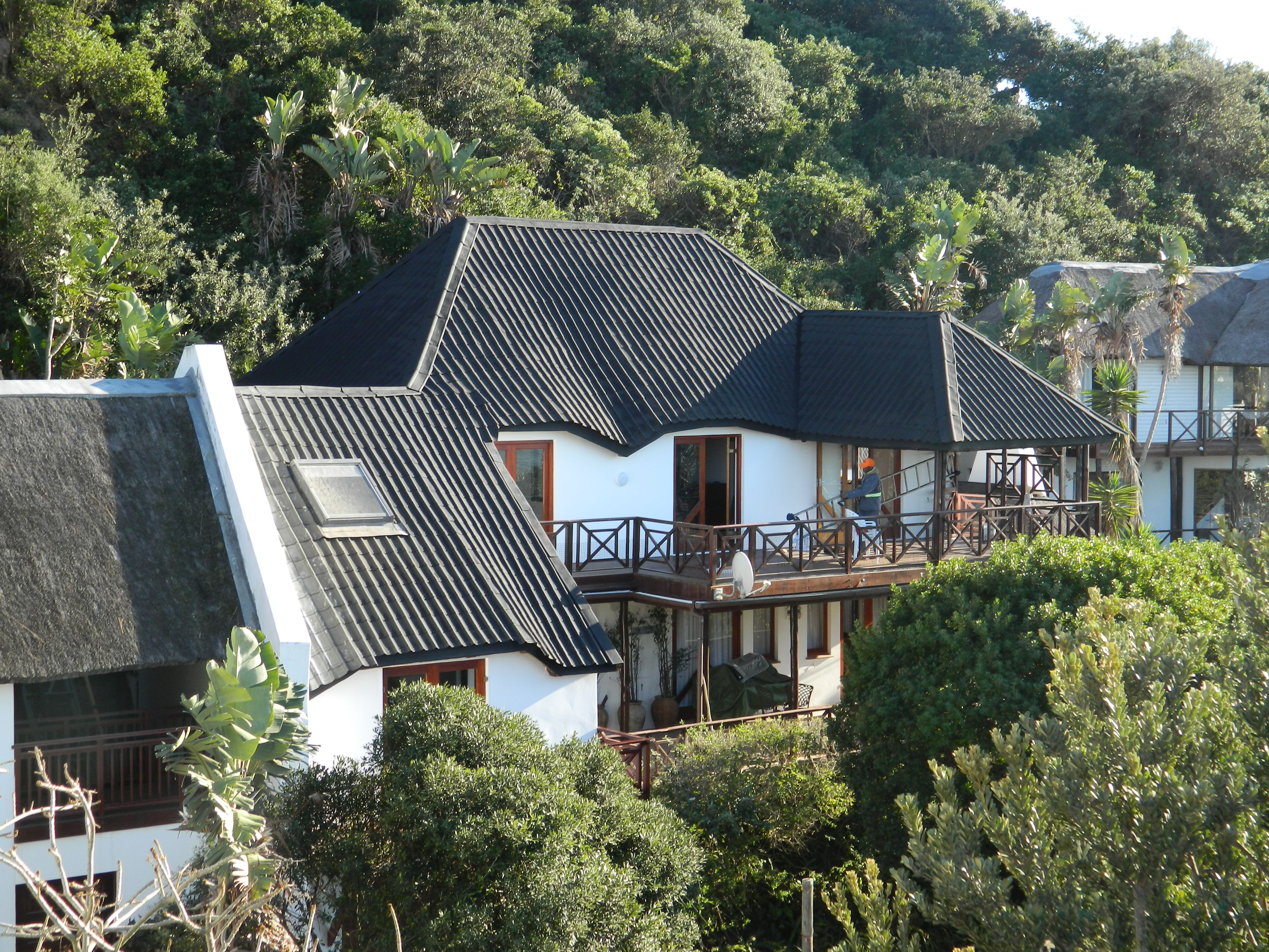 Thatched Roof Converted To Onduvilla Tiles In Chintsa Eastern Cape Of South Africa Thatched Roof Architectural Inspiration House Styles