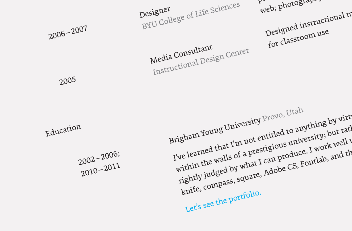 What's the best font for resumes? Our font expert, David