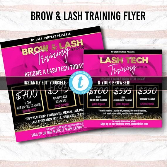 lash tech flyer lashes flyer brow microblading flyer feminine