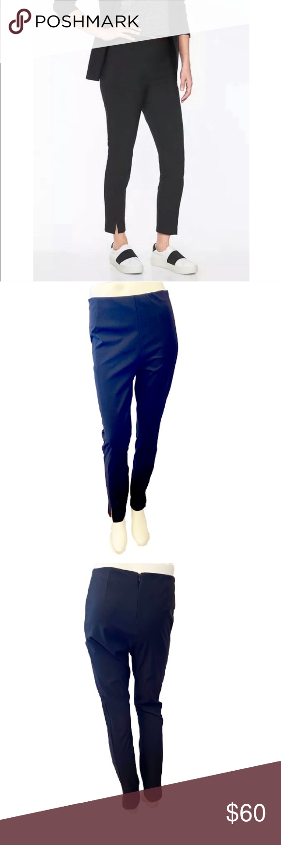 """Athleta Wander Slim Pants- Size 8 EUC Athleta Wander Slim Pant in black. These stretchy straight crop pants are durable with stretch and have a skulptek waistband for a flattering look and a zipper closure. Wear to work, lunch, or a day of adventure.   ▪️Size: 8 ▪️Waist: 14.5"""" across ▪️Rise: 10.5"""" ▪️Inseam: 28"""" ▪️Material: 90% Recycled Nylon, 10% Spandex   Offers welcome!  *All measurements are taken flat lay and are approximations.  0380-8 Athleta Pants Ankle & Cropped"""