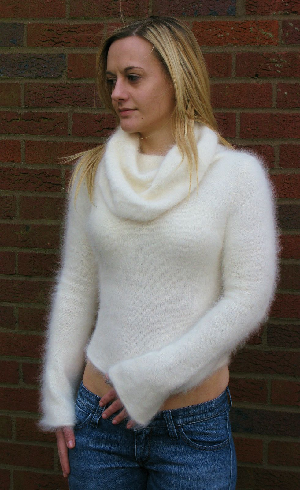 Very fluffy soft white angora sweater | Angora and other fuzzy ...