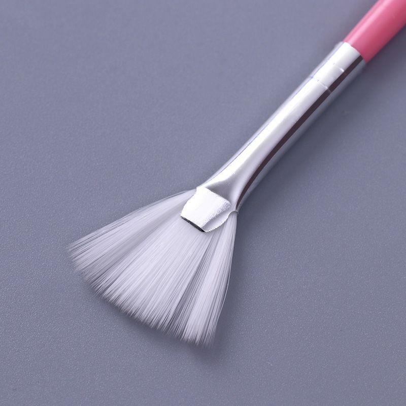 0 99 Shade Gradient Fan Brush Dust Remover Pen Pink Handle Manicure Nail Art Tool Bornprettystore Com Nail Brushes Nail Art Tools Fan Nails