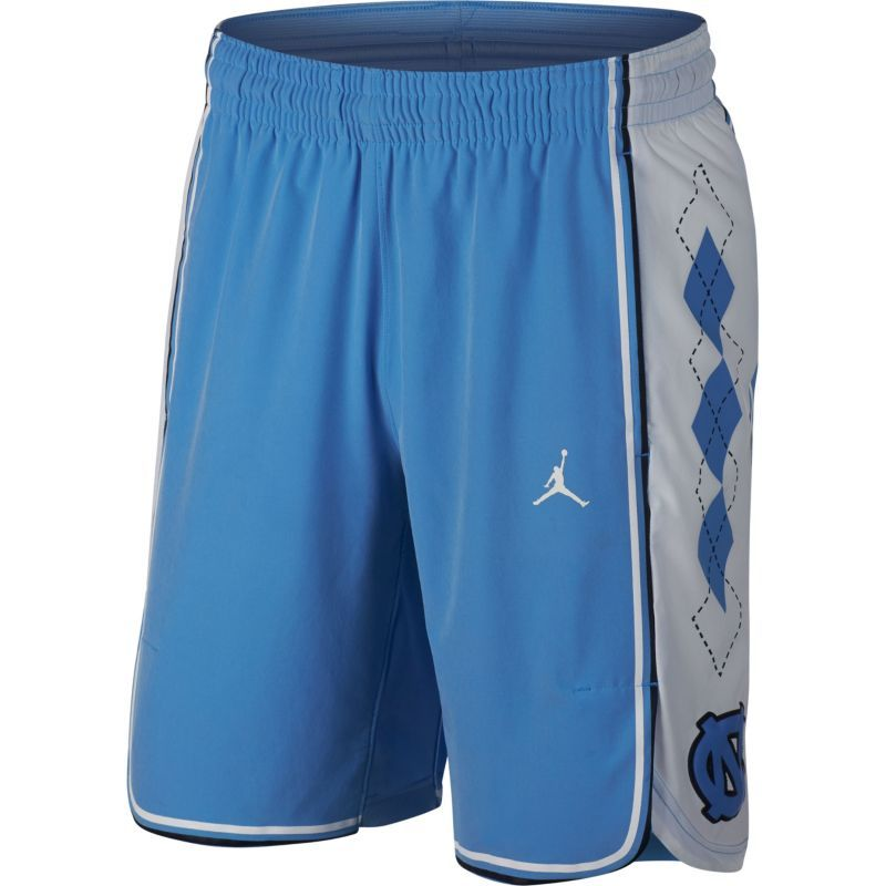 52b8d6b4ccab03 Jordan Men s North Carolina Tar Heels Carolina Blue Authentic Basketball  Shorts