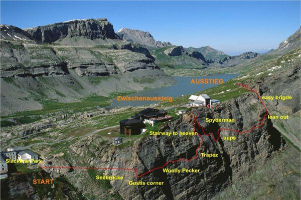 Klettersteig Wallis : Klettersteig gemmiwand gemmi.ch top of leukerbad berghotel