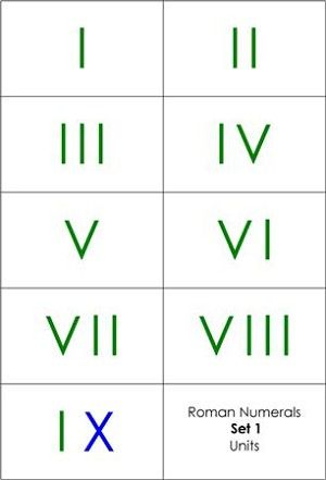 Roman Numerals Matching Cards  Math    Montessori And Math