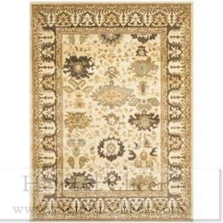 Safavieh Oushak Cream Brown Powerloomed Rug 6 x27 7 x 9 x27 1 - at - 0153