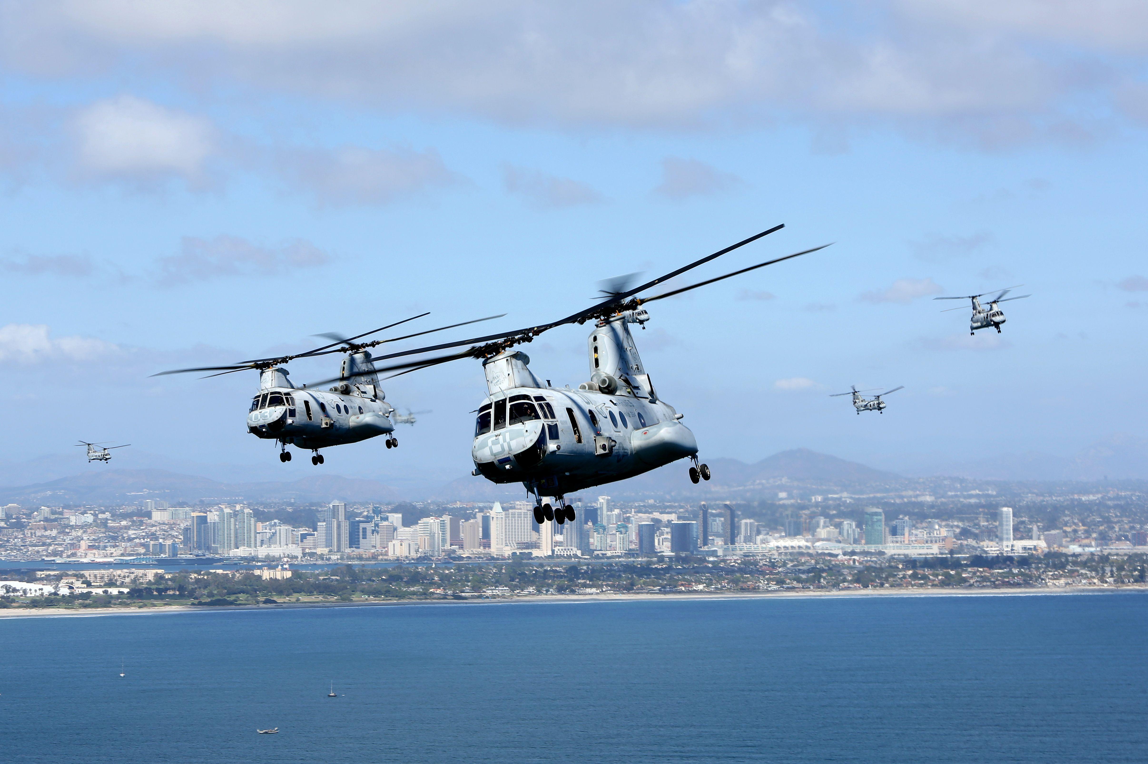 US Marines with Marine Medium Helicopter Squadron 364