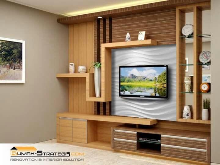 Backdrop Tv Ide Apartemen Ruang Tamu Rumah Ide Ruang Keluarga