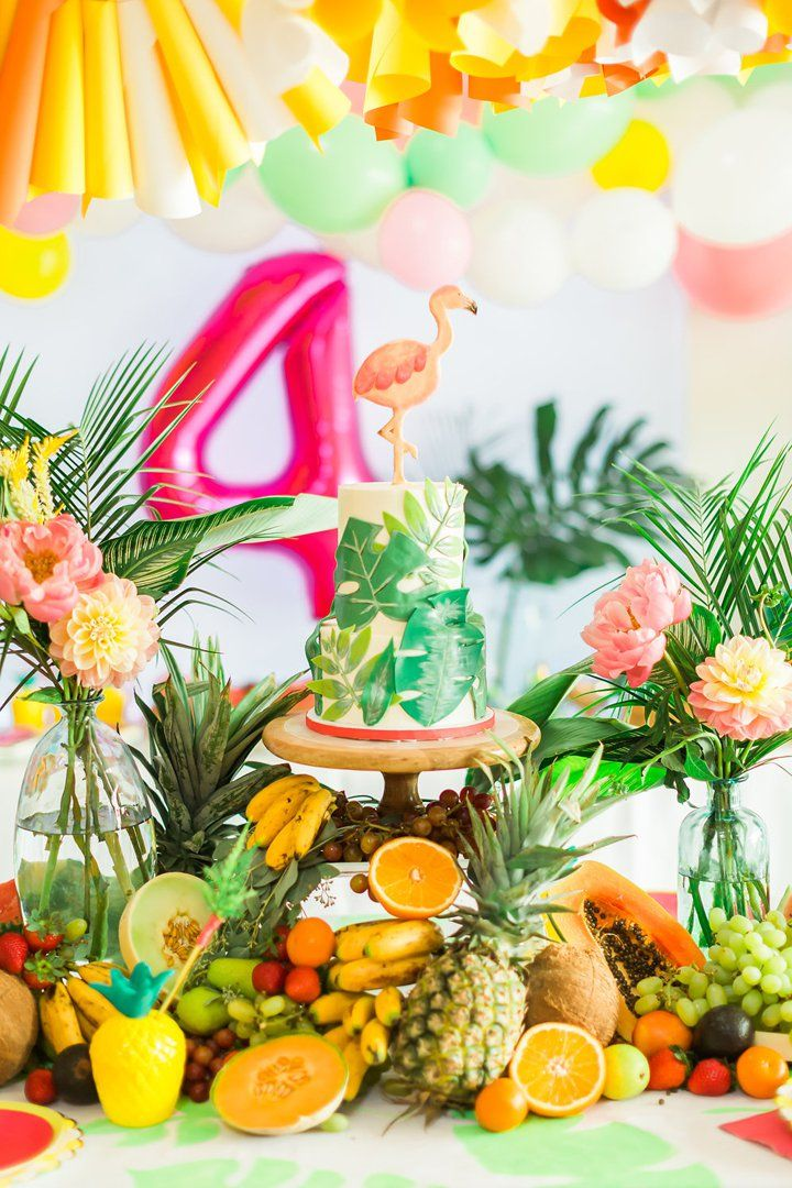 It's Impossible Not to Smile at This Tropical FOURest Birthday Party