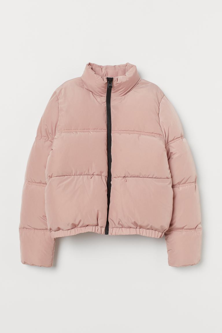 Chamarra Acolchada Rosa Claro Ladies H M Mx Puffer Jackets Jackets Puffy Jacket Outfit [ 1152 x 768 Pixel ]