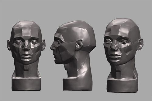 Zbrush practice, the planes of the head. Now I undestand a little more how the planes of the face works.