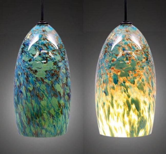 Wonderful Blown Glass Pendant Lighting