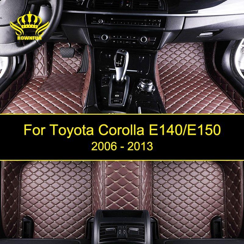 New Car Floor Mats For Toyota Corolla E140 E150 Custom Fit Most Cars Artificial Leather Carpet Mats Pro Custom Car Floor Mats Volkswagen Touareg Car Floor Mats