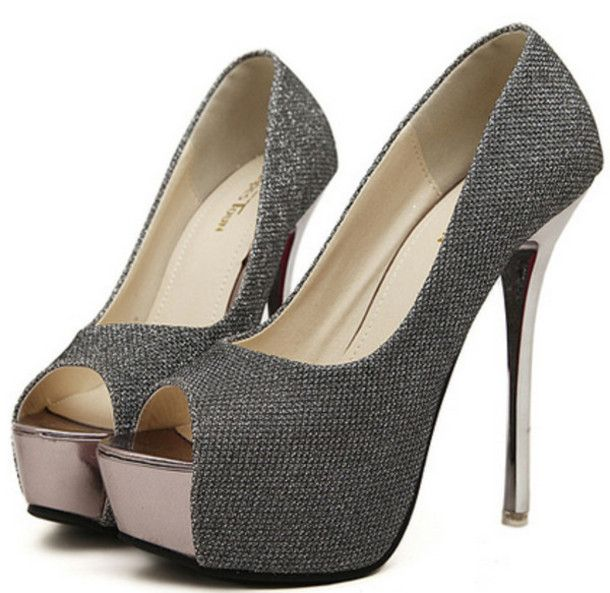 There Is 1 Tip To These Shoes Sliver Heels Black Wedding Party Clubwear