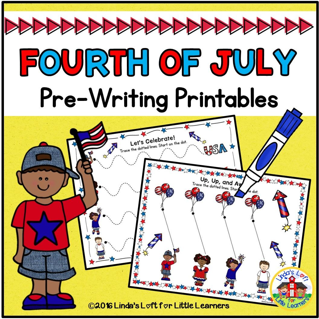 Fourth Of July Pre Writing Printables