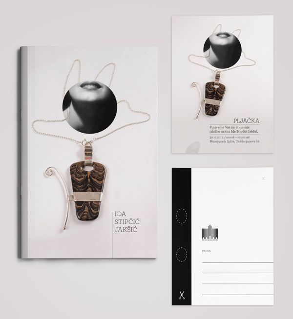 Jewelry exhibition brochure by Goran Pavasović, via Behance - jewelry brochure