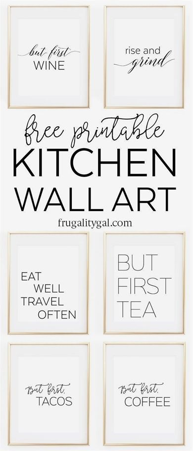 graphic about Free Printable Kitchen Art referred to as Kitchen area Gallery Wall Printables Cost-free Printable Wall Artwork