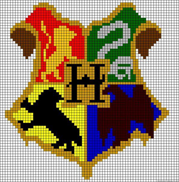 Хогвартс герб вышивка схема