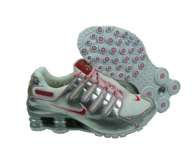 Nike Womens Shox Nz Mesh Up Shoes Silver Pink
