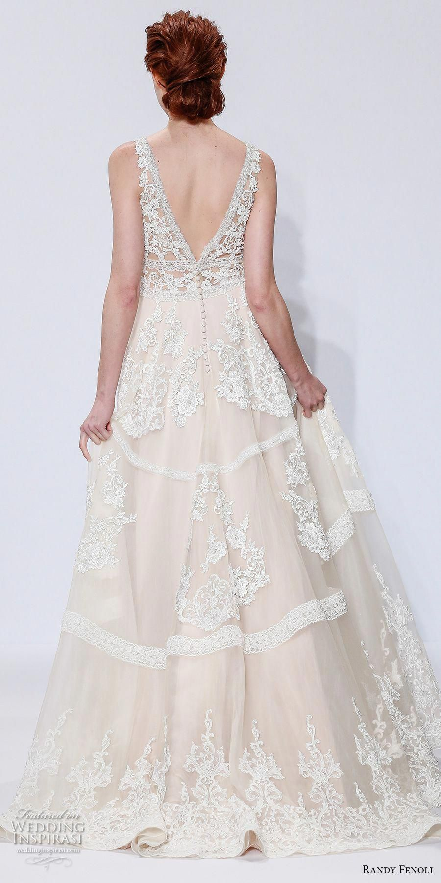 randy fenoli spring 2018 bridal sleeveless v neck full