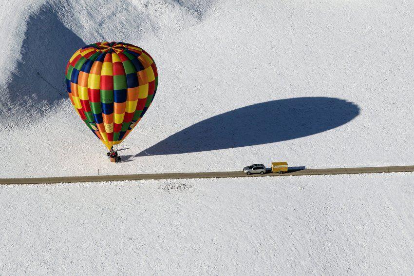 Augenblick: Heiße Luft auf kaltem Schnee - SPIEGEL ONLINE