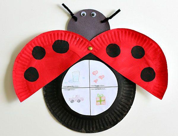 70 Lavoretti con Piatti di Plastica per Bambini   Ladybug ...