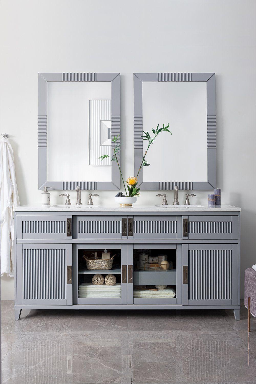 72 brisbane silver gray double sink bathroom vanity james martin rh pinterest com