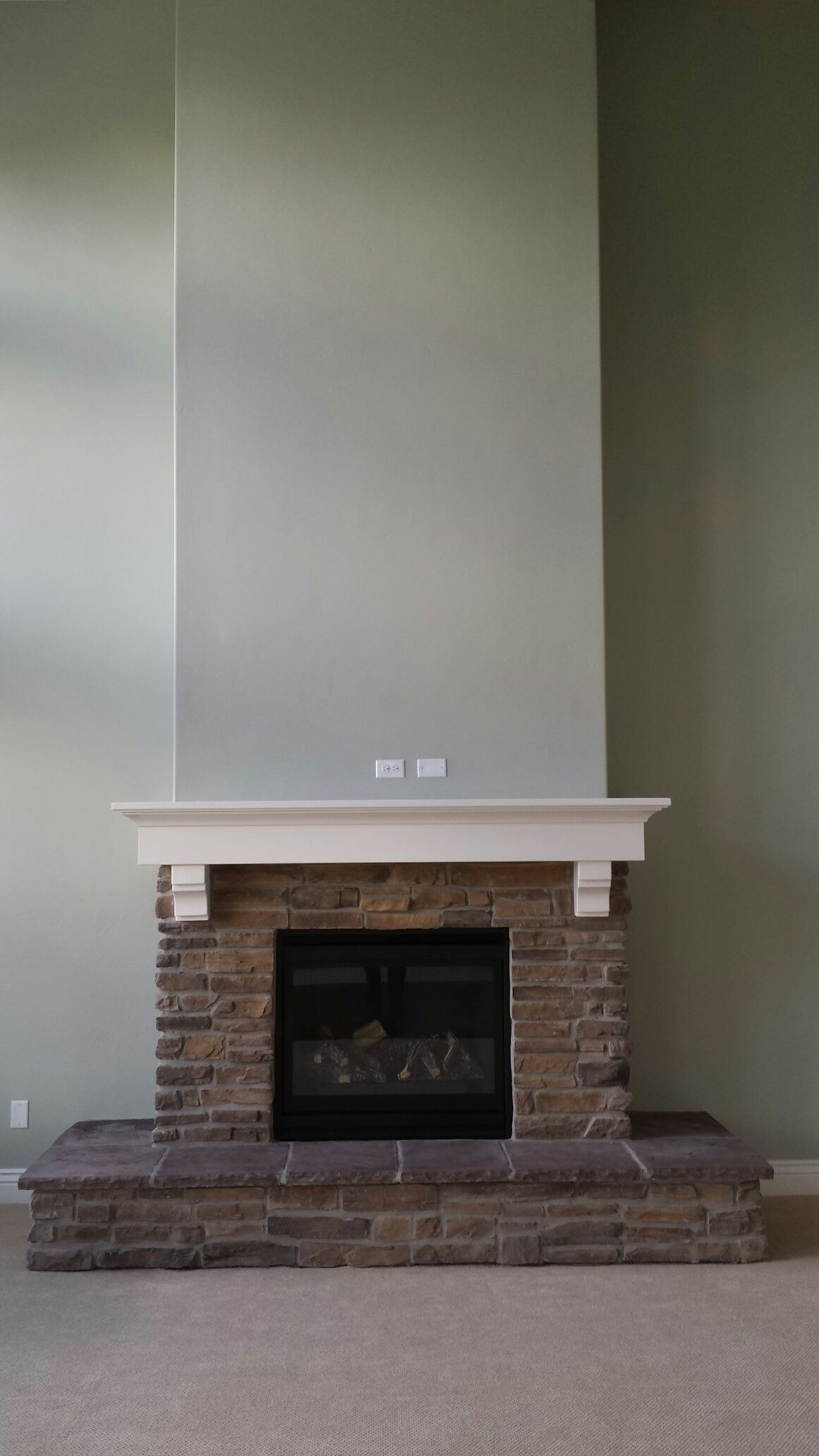 Gas Fireplace With Mantel Amp Raised Hearth Cervinoutah
