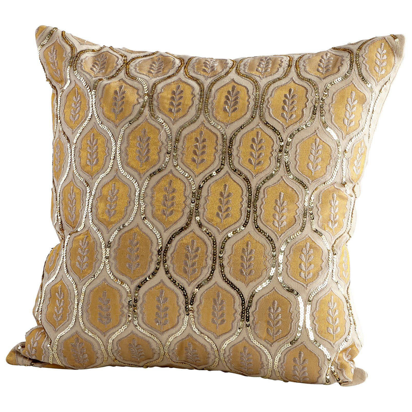 Anchal® Organic Cotton Embroidered Triangle Throw Pillow