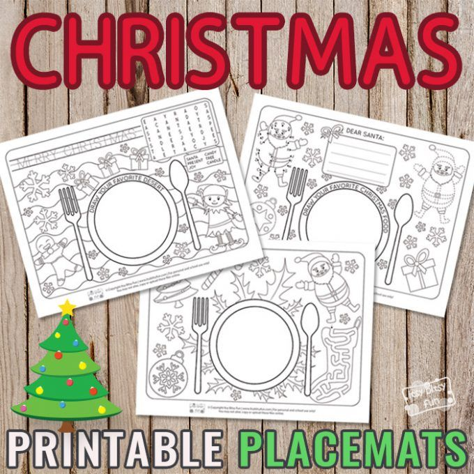 Printable Christmas Placemats Itsybitsyfun Com Christmas Placemats Christmas Printables Kids Kids Christmas Party