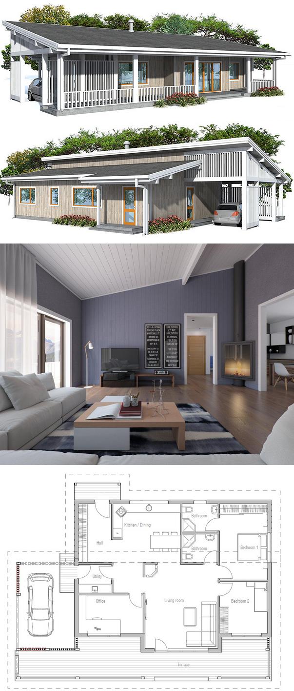 Small House Ch23 Small House Plan House Plans Small House Plans