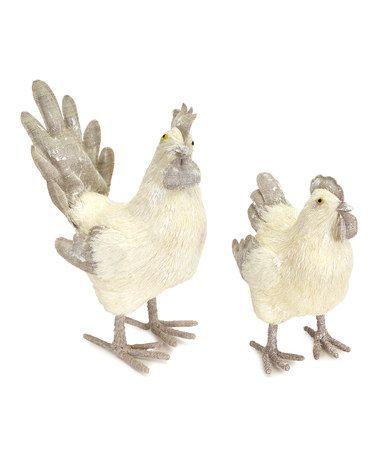Rooster Hen Décor Set Zulilyfinds