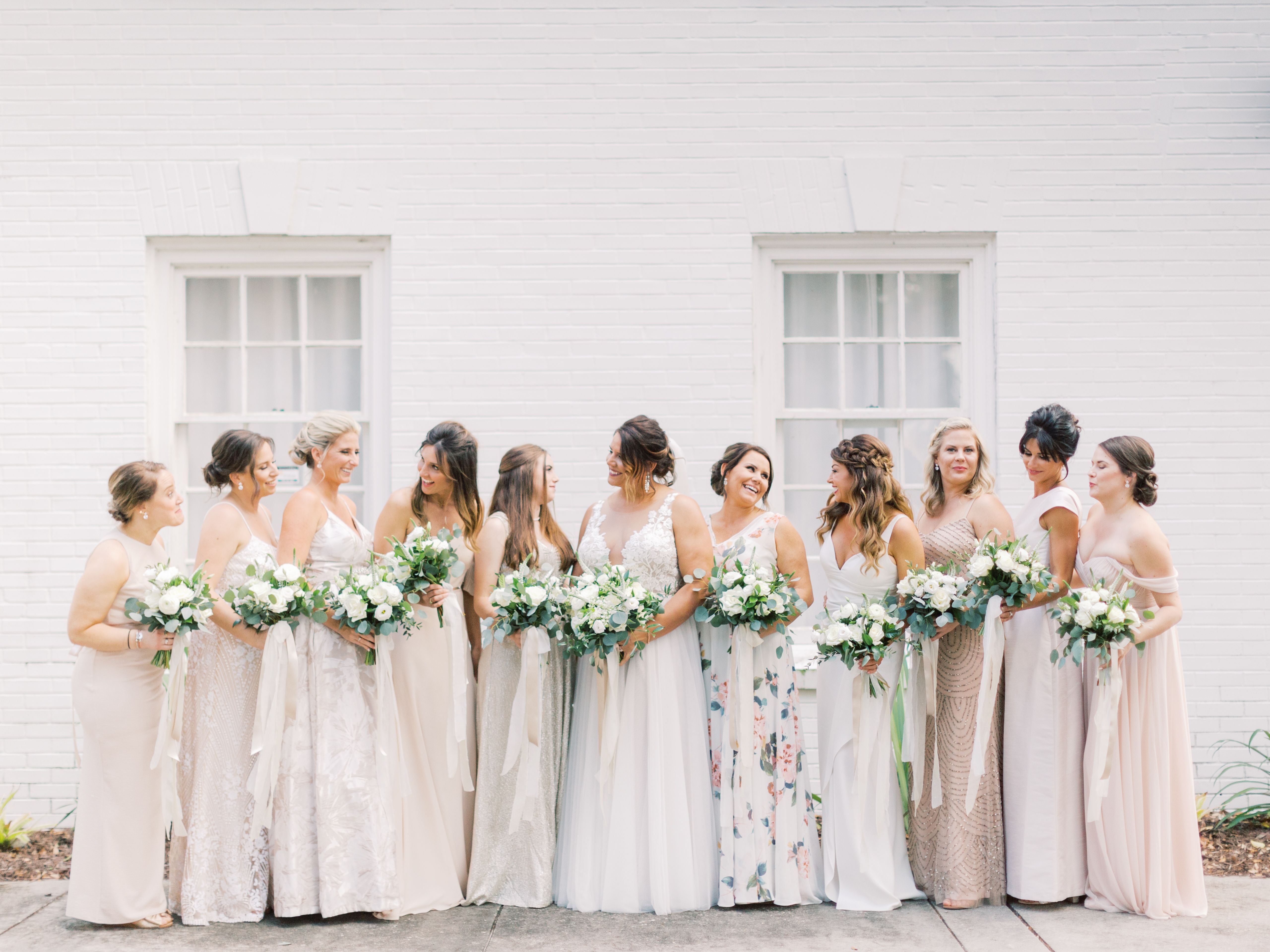 Neutral Bridesmaids Dresses Riverfront Wedding Neutral Bridesmaid Dresses Bridesmaid Dresses