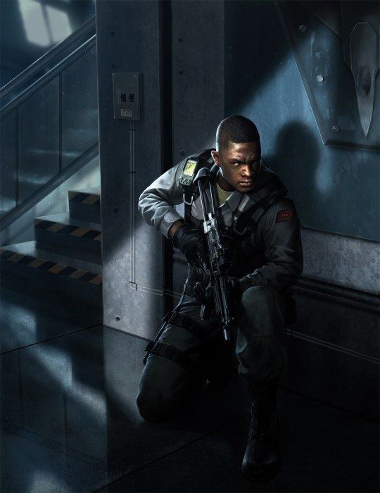 Civvies And Guards Cyberpunk Character Black Characters Sci Fi