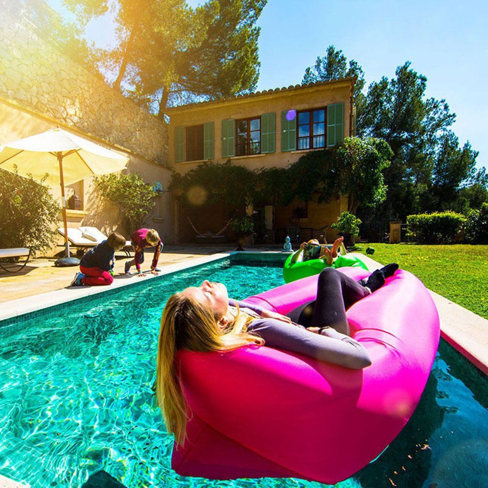 inflatable pool furniture. INFLATABLE OUTDOOR AIR LOUNGER - Perfect For Camping, Beach Or Picnics. Warm Weather Is Coming And That Means Spending Plenty Of Time Outdoors. Inflatable Pool Furniture