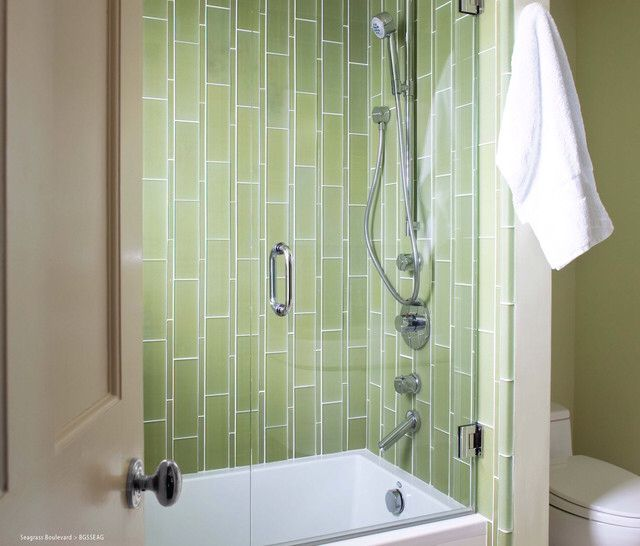 Vertical Subway Tile With Two Sizes Of Tile With Images Glass