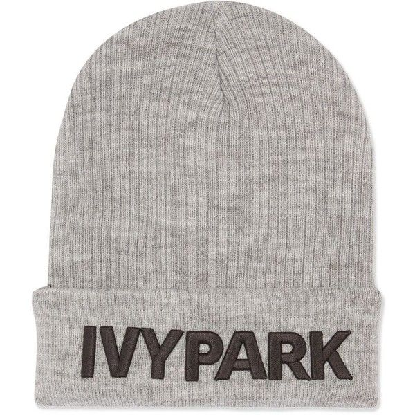 Ribbed Logo Beanie Hat by Ivy Park ( 19) ❤ liked on Polyvore featuring  accessories 6e639f45fd1