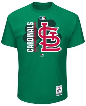 Majestic Men's St. Louis Cardinals Ac Clover T-Shirt - Green XL