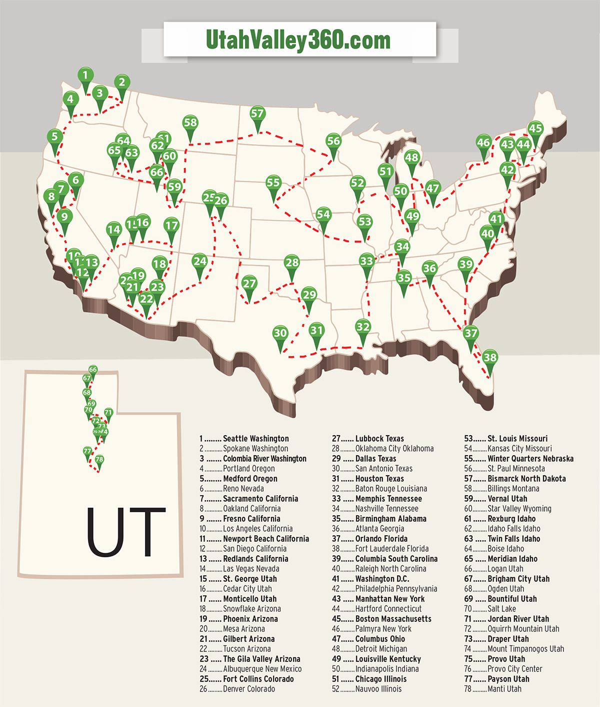 Map Of Arizona Lds Temples.How To Visit Every Lds Temple In The Continental U S In 79 Days