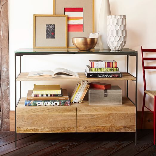 Glass Topped Rustic Storage Console Contemporary Console Table Affordable Contemporary Furniture Furniture