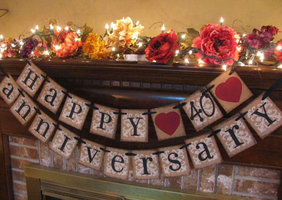 Anniversary Decoration Ideas Home Part - 16: 40th Anniversary Party Theme Ideas